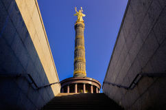Berlin Siegessäule Perspective from tunnel Royalty Free Stock Image