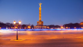 Berlin Siegessauele (Victory Column) Stock Photos