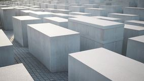 BERLIN, SIERPIEŃ - 21: Rzeczywista niecka strzelająca holokausta pomnik, zamyka up zbiory