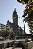 Berlin, Sierpień 27: Widok Charlottenburg Wilmersdorf Rathaus w Berlin Fotografia Stock