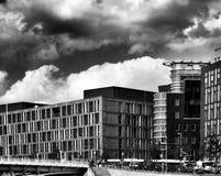Berlin sight Konstnärlig blick i svartvitt Arkivfoton