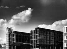 Berlin sight Konstnärlig blick i svartvitt Arkivbilder