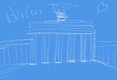 Berlin Sketch Royalty Free Stock Photography