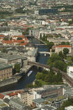 Berlin from the sky. Aerial view of Berlin from the TV tower Stock Photos