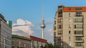 Berlin sky, time-lapse video in Germany stock footage