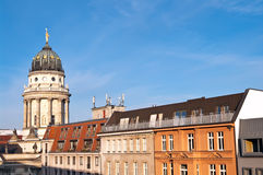 Berlin skyline. With French cathedral at Gendarmenmarkt Stock Images