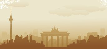 Berlin skyline. Abstract vector illustration Royalty Free Stock Photo