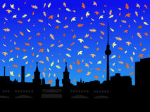 Berlin skyline in autumn Royalty Free Stock Image