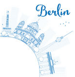 Berlin skyline with blue building and copy space. Stock Photography