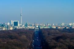 Berlin skyline with Brandenburg Gate Stock Photo