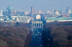 Berlin Skyline with Brandenburger Tor Zoom Stock Image