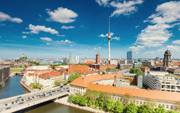Berlin Skyline City, Capital of Germany Royalty Free Stock Images