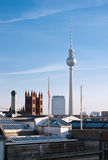Berlin skyline and Fernsehturm Royalty Free Stock Photo