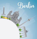 Berlin skyline with grey building, blue sky and copy space. Royalty Free Stock Images