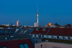 Berlin skyline and houses Royalty Free Stock Images