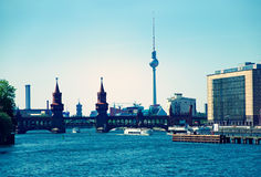 Berlin Skyline Oberbaumbruecke Royalty Free Stock Photo