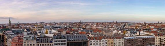 Berlin Skyline Panorama with the Hackesche Höfe Stock Photo