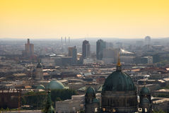 Berlin skyline potsdamer platz. Berlin skyline with potsdamer platz and berliner dom at dawn Royalty Free Stock Photos