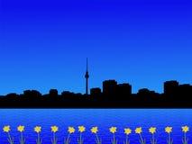 Berlin skyline in spring Royalty Free Stock Photo