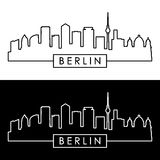 Berlin Skyline stile lineare Fotografia Stock Libera da Diritti