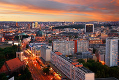 Berlin skyline sunset Stock Photography