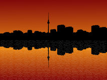 Berlin skyline at sunset Royalty Free Stock Image