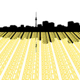 Berlin skyline with text Royalty Free Stock Photo