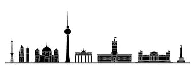 Berlin skyline royalty free illustration