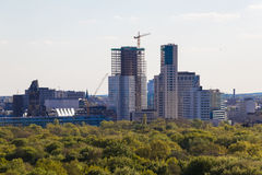 Berlin skyline view from the victory column to Kurfuerstendamm ( Royalty Free Stock Photography