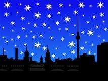 Berlin skyline in winter Stock Image