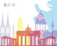 Berlin-Skylineknall lizenzfreie abbildung