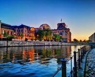 berlin solnedgång royaltyfri fotografi