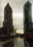 berlin som regnar s Arkivbild