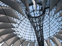Berlin Sony Center. The futuristic roof of the sony center in the Potsdamer Platz in Berlin, Germany Royalty Free Stock Images