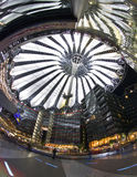 Berlin Sony Center. The Sony Center is Sony-sponsored building complex located at the Potsdamer Platz. Sony Center contains a mix of shops, restaurants. It stock image