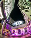 Berlin Sony Center. The Sony Center is Sony-sponsored building complex located at the Potsdamer Platz. Sony Center contains a mix of shops, restaurants. It stock images