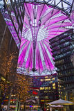 Berlin Sony Center. The Berlin Sony Center is a, designed dy Jahn architect, and is the Sony-sponsored building complex located at the Potsdamer Platz in Berlin Stock Photo