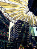 Berlin Sony Center Potsdamer Plazt, Berlin, Tyskland Arkivbilder