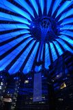 Berlin Sony Center roof illuminated at night. Berlin Sony Center roof illuminated by night Stock Image