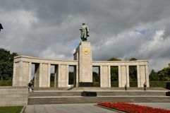 Berlin soviet memorial Stock Photography