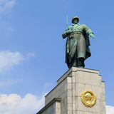 Berlin Soviet War Memorial. Statue of a Soviet soldier at Soviet War Memorial in Berlin Tiergarten, Germany. Erected to commemorate the soldiers of the Soviet Royalty Free Stock Images