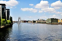 Berlin at the spree at daytime Stock Photography