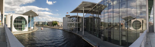 Berlin spree river bundestag buildings high resolution panorama Stock Photo