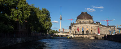 Berlin spree riverside view Royalty Free Stock Photography