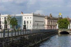 Berlin stad - Bertelsmann byggnad Arkivfoto