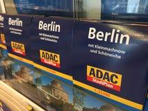 Berlin-Stadtplan redigiert durch ADAC Stockfoto