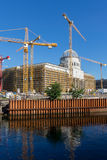 Berlin stadtschloss, City Palace construction site Royalty Free Stock Photo