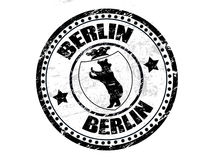 Berlin stamp Royalty Free Stock Photos