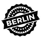 Berlin stamp rubber grunge Royalty Free Stock Photos