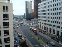 Berlin-Straße von oben Stockfotos